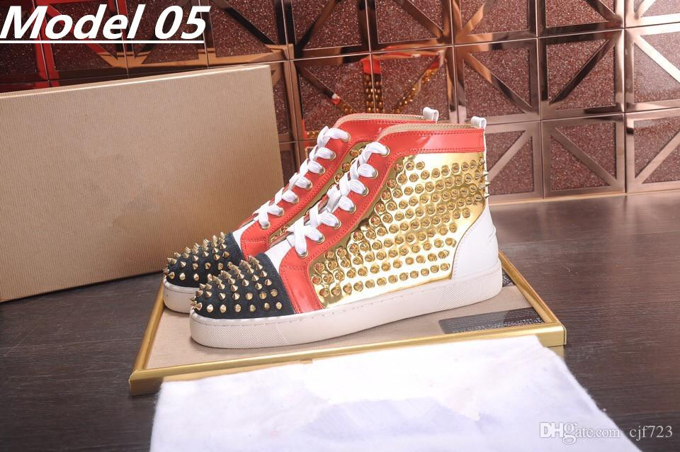 Cheap red bottom sneakers for men Luxury black suede with Spikes fashion casual mens womens shoes 2017 Designer leisure trainers footwear