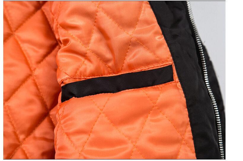 Erkekler Kış Sıcak Pamuk dolgulu Downs Kalın Kapşonlu Kürk Vintage Pilot Aşağı ceketleri Bombacı Ceket