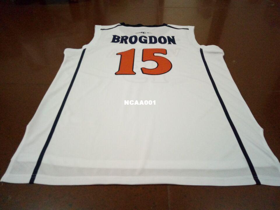 promo code 85cc8 33661 Men #15 Malcolm Brogdon Virginia college white Retro Stitched Personalized  or custom any name or number College jersey