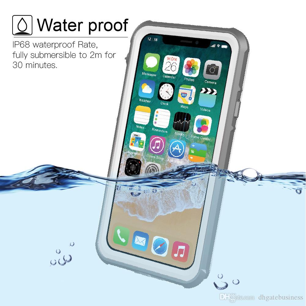 los angeles 7a7c7 b4543 Waterproof Case For iPhone X Hybrid Swimming Diving Water Shock Proof Cover  Outdoor Phone Cases For iPhoneX Skiing Back Cover