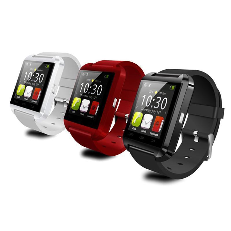 Bluetooth reloj inteligente U8 reloj de pulsera relojes deportivos digitales para IOS Android teléfono Samsung dispositivo electrónico usable U 8 con caja al por menor