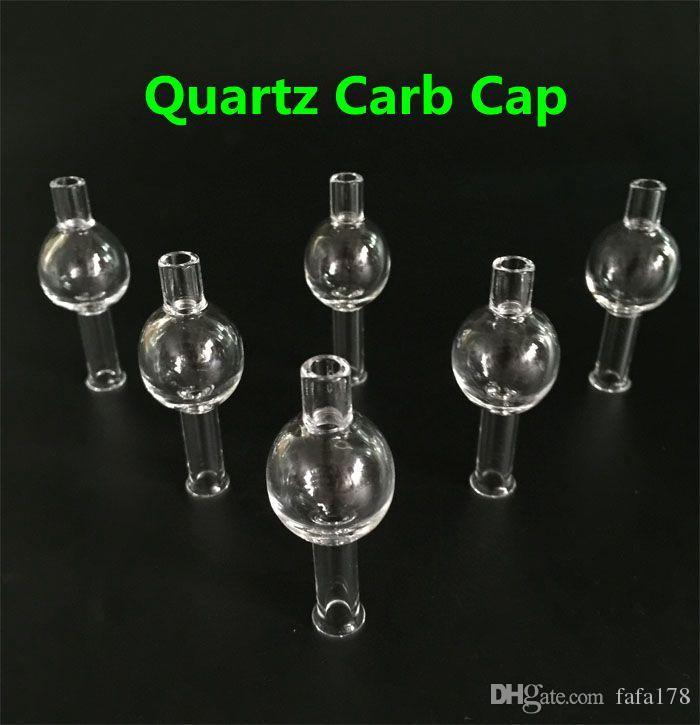 Universal Super Pure Crystal Quartz Bubble Quartz Carb Cap For Quartz Banger Dropdown Thermal Banger Nail