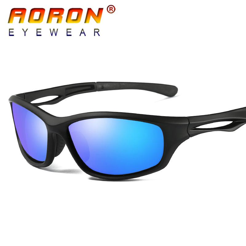 2c295fb2a2 AORON Brand Polarized Sunglasses Driving Goggles Color Mirror HD Lens Sun  Glasses TR90 Riding Cycling Sports Eyeglasses New For Men As Gift Polarized  Brand ...