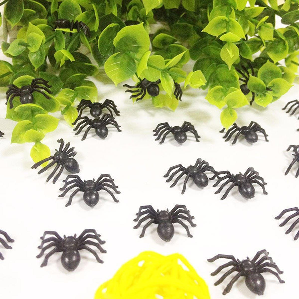 Best /Bag Simulation Small Black Fake Spider Halloween Party ...
