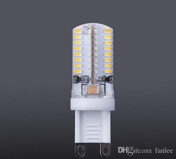 G9 led 64 leds smd 3014 3w 200lm led corn lamps silicone bulbs Energy saving Warm / White 64 led 5PCS