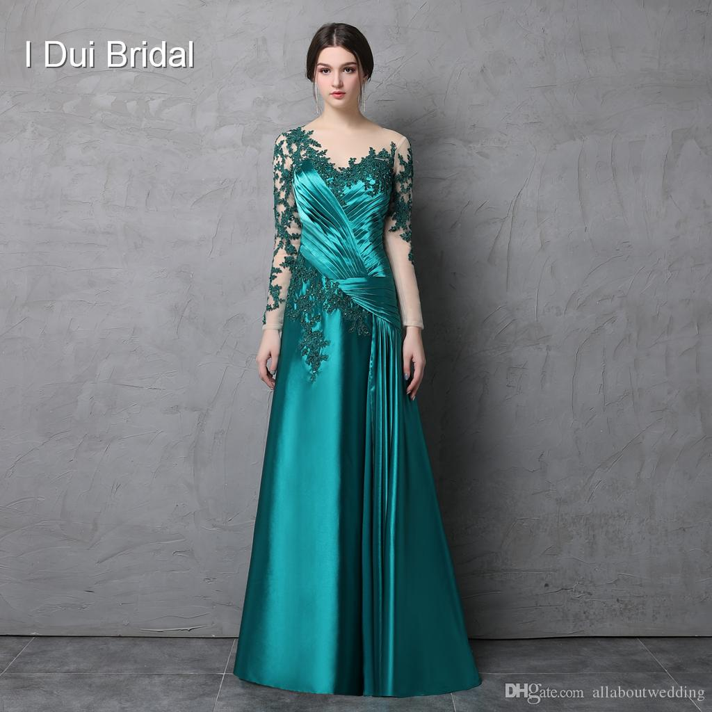 Custom Made Mother Of The Bride Dresses Evening Party Illusion Tulle ...