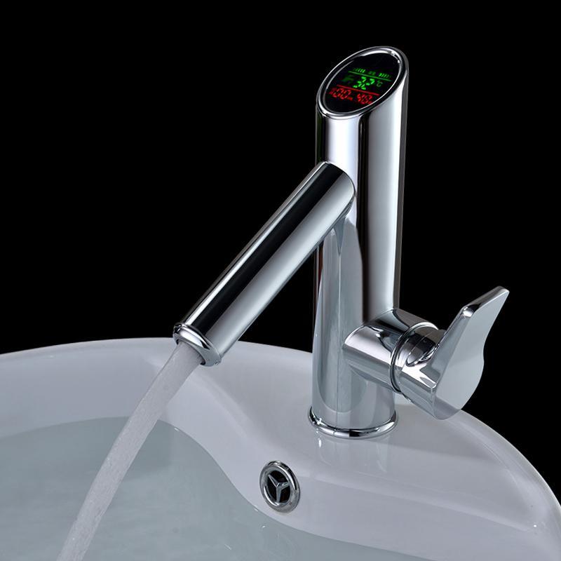 2018 Bakala Bathroom Led Digital Basin Faucet Water Power Basin ...