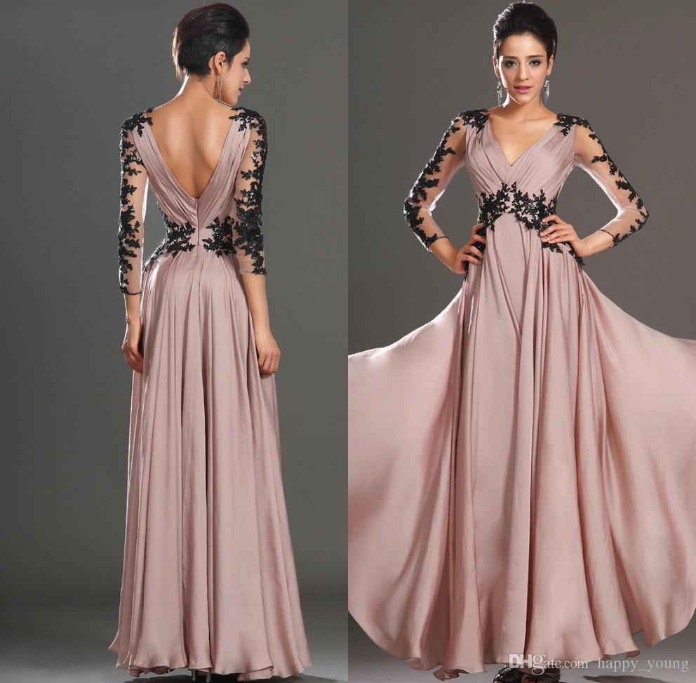 Silk Chiffon Long Party Dresses