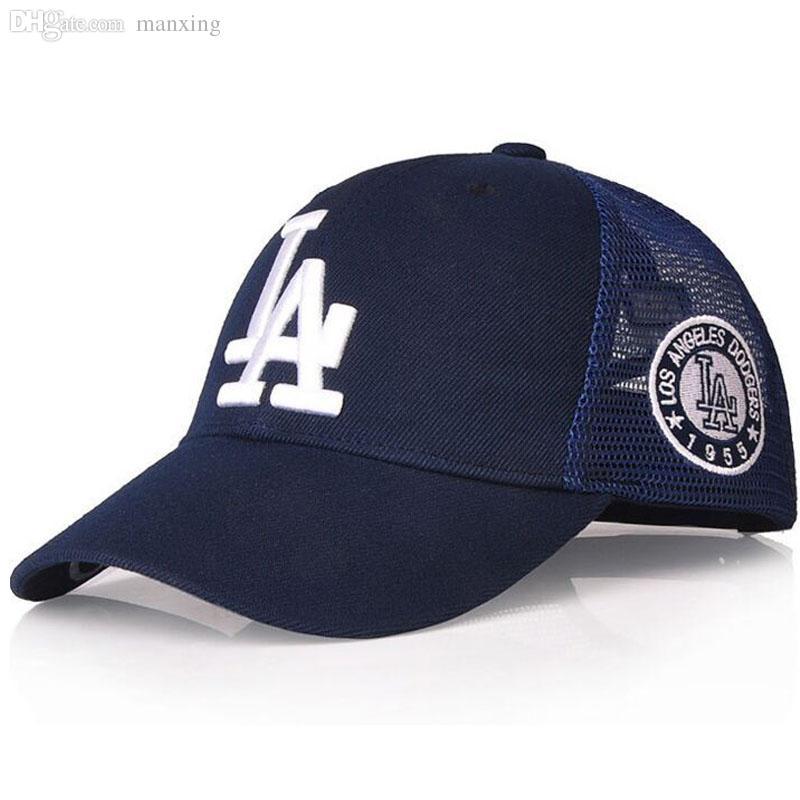 1c7f8e2508d9ef Wholesale LA Female Models Summer Paragraph Baseball Cap Mesh Cap Summer  Hats For Women MLB Authentic Mesh Cap Sun Hat Hat Stores Custom Trucker Hats  From ...