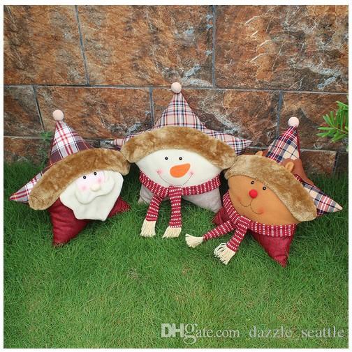 Joyeux Noël Coussins Poupée Père Noël Cadeaux De Noël Jouets De Noël Décoration Fenêtre Ornement Cadeaux De Noël Doux Oreiller De Sommeil Pour Les Enfants