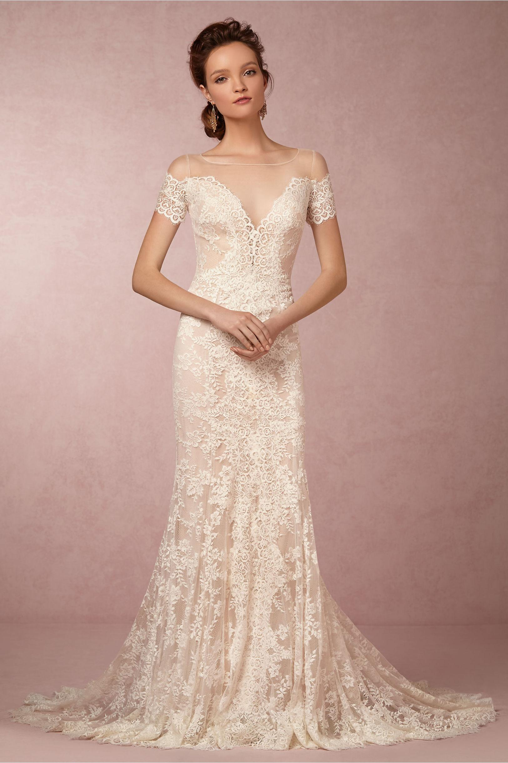 BHLDN Lace Wedding Dress – fashion dresses