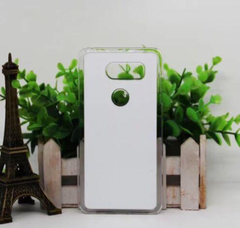 Para LG V30 2D DIY plástico em branco caso de sublimação com inserção e cola shiping livre