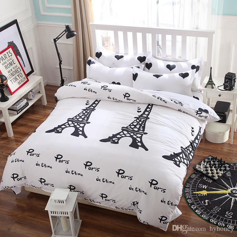 New Bedding SetI Love Paris StyleComforter Cover