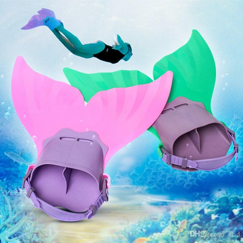 HOT Water Sports Training Shoes Cute Kid Children Monofin Mermaid Flippers Diving Swimming Fins Scuba Swim Fin Foot Flippers Monofin