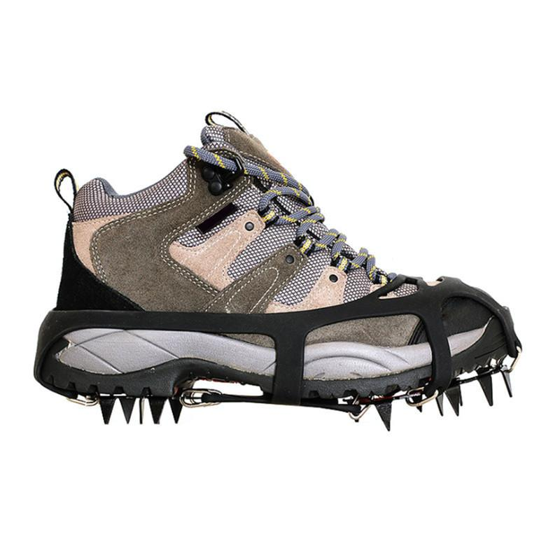 18 Teeth Non-slip Ski Ice Snow Climbing Claws Crampons Spikes Anti-slip Shoes Cover Outdoor Sport Mountaining Hiking Climbing