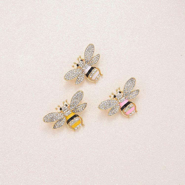 Del progettista di marca Bee Spille spilli spilla in cristallo fibbia strass donne di alta qualità Gioielli di lusso all'ingrosso