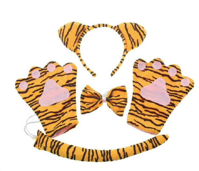 Animal Tiger Claw Paw Glove Headband Bow Tail Party Costume Halloween Online with $18.47/Set on Emmayuu0027s Store | DHgate.com  sc 1 st  DHgate.com & Animal Tiger Claw Paw Glove Headband Bow Tail Party Costume ...