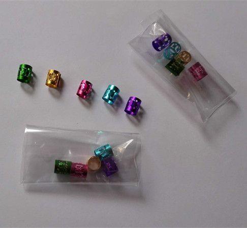 Wholesale Hair Dreadlock Beads Dreadlocks Cuff Clip Adjustable Hair Braid Cuff 8mm