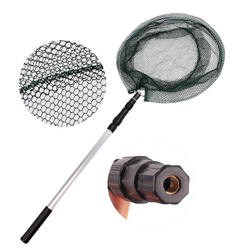 1.5m Aluminum Alloy Fishing Landing Net Nylon Mesh Telescopic Hand Net For Fish Folding Carp Fishing Dip Net