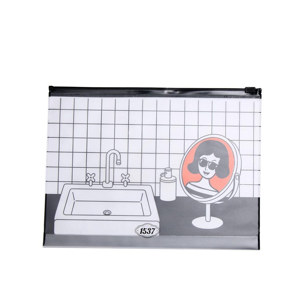 1 STÜCK Mode PVC Make-Up Tasche Reißverschluss Cartoon Klar Kosmetiktasche Persönlichkeit Kulturbeutel Kosmetische Aufbewahrungstasche