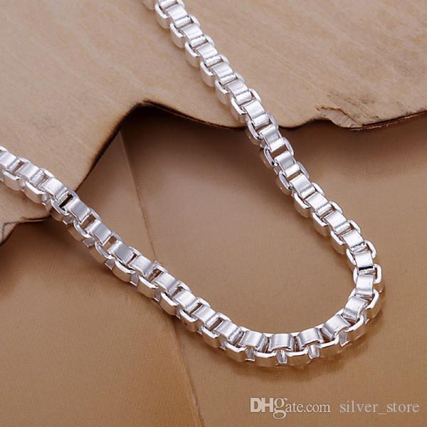 Sıcak satış en iyi hediye 925 gümüş Aberdeen kutusu bilezik DFMCH172, marka yeni moda 925 ayar gümüş kaplama Zincir bağlantı bilezikler