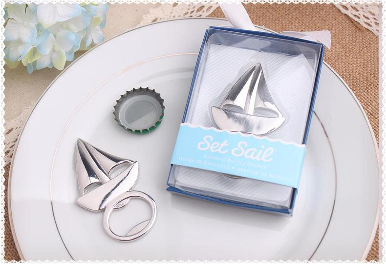 2016 New Sailboat Bottle Opener Beach Themed Wedding Party Favors