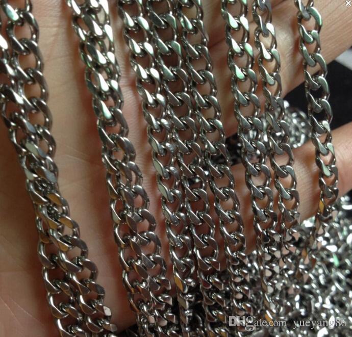 10 metri / lotto Vendita diretta in fabbrica Gioielli Trovare Strong Curb Catena a maglia In acciaio inox FAI DA TE jewlery Marcatura 5mm gioielli marcatura FAI DA TE