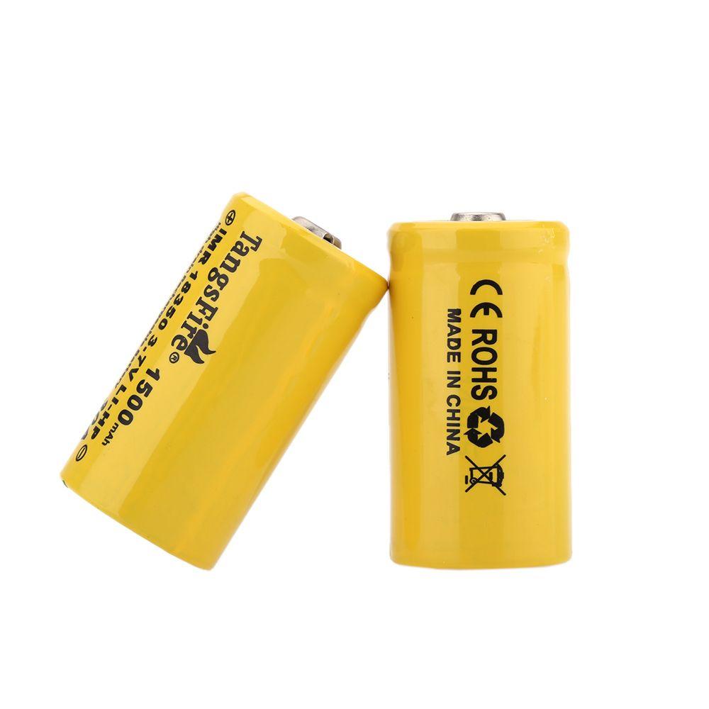 Одна Пара TangsFire 18350 3.7 В Аккумуляторная батарея 1500 мАч 30А Ток разряда Батареи Источник питания для бытовой электроники