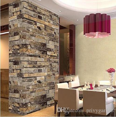 Acheter Pierre Brique 3d Papier Peint Chambre Salon Fond Mur Vinyle
