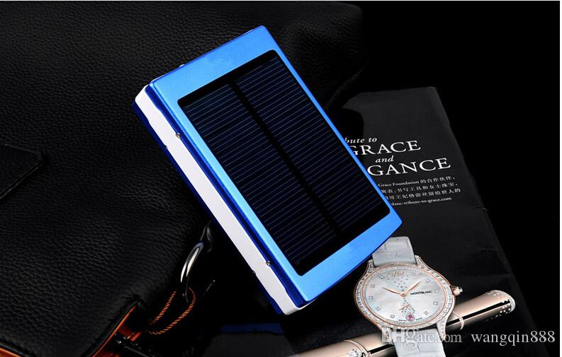 15000 mah Solar Charger and Battery 15000mAh Solar Panel Dual Charging Ports portable power bank for All Cell Phone table PC MP3