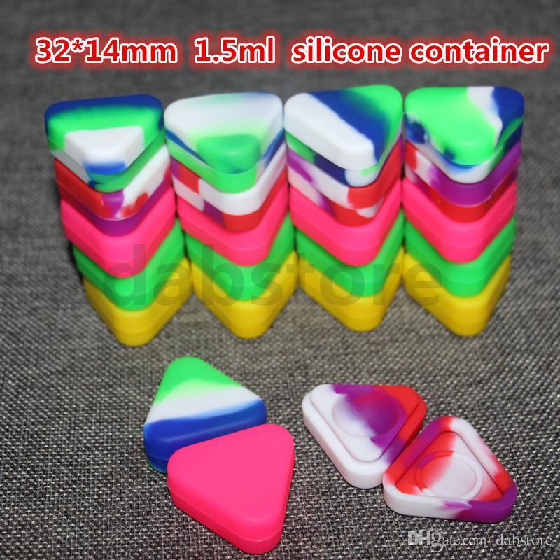 도매 실리콘 왁스 오일 컨테이너 1.5mL 32 * 14mm 컨테이너 실리콘 항아리 왁스 농축 왁스 컨테이너 도매 무료 배송 DHL
