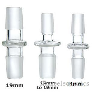 Супер 14 мм 19 мм между мужчинами Strainght совместное стекло водопровод адаптер прозрачное стекло купол адаптер стекло конвертер 18.8 мм 14.5 мм