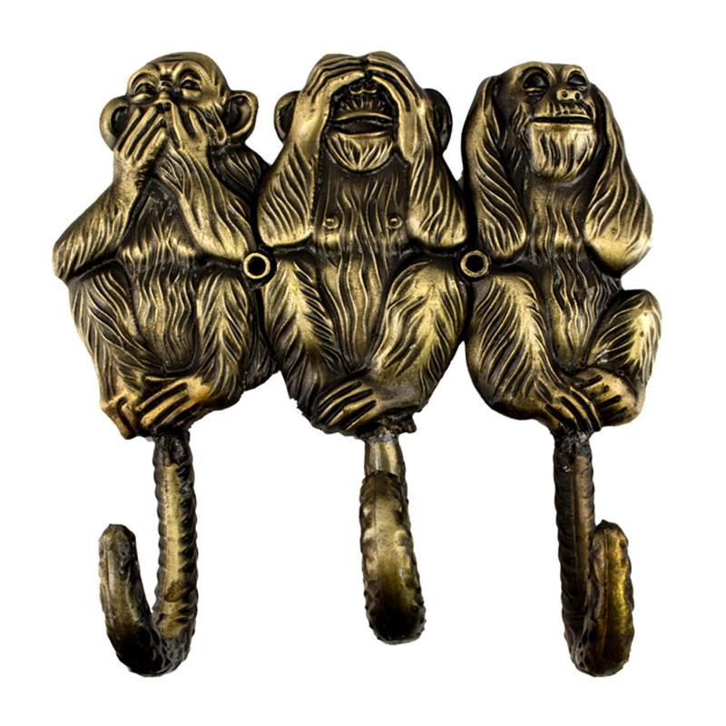 best monkey vintage decoration creative coat hooks metal hook wall, Wohnideen design