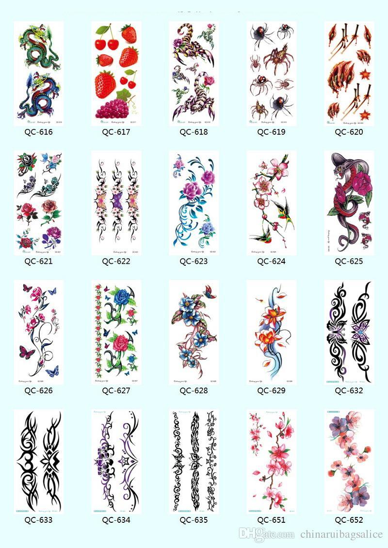 NEUE 21 * 10 cm Temporäre gefälschte tattoos Wasserdichte tattoo aufkleber körperkunst Malerei für party dekoration etc