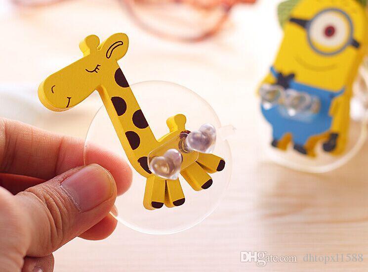 Nuevos Portacepillos de dientes Artículos de tocador domésticos creativos Estante de cepillos de dientes de dibujos animados lindo Estante de cepillos de dientes de madera 6 estilo