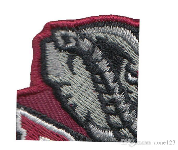 best price computer embroidery patch logo good quality hot cut Iron on welcome customized made in China