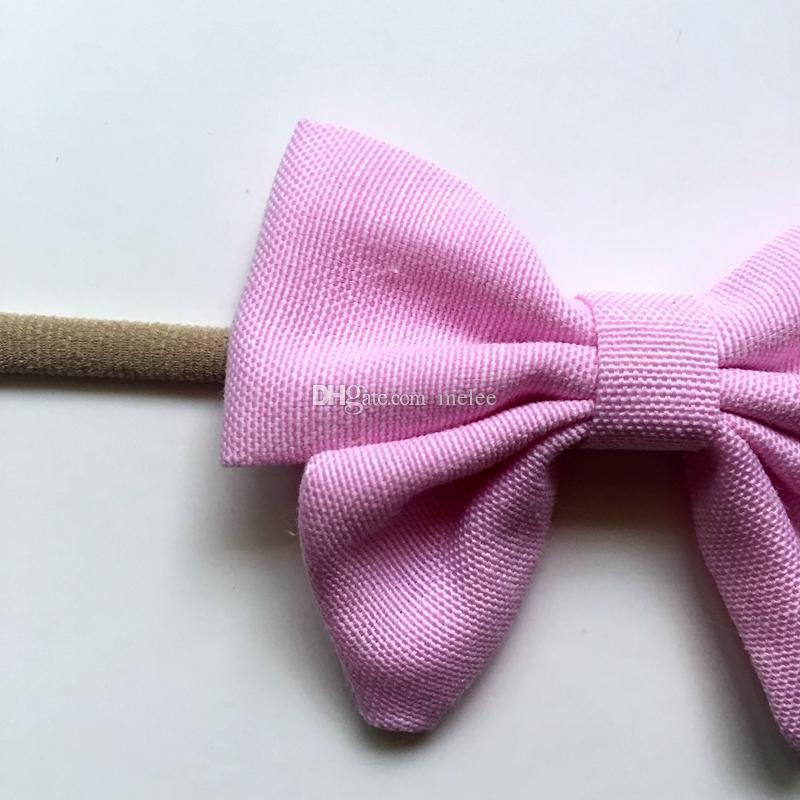 Migliore qualità i cotone fatti a mano bambini neonati arco fasce di nylon morbido nylon copricapo nylon fascia elastica fascia testa libera la nave