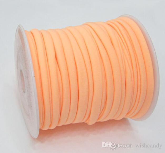 30 renkler 5mm 20 m / satır elastik Likra kordon dikişli Yuvarlak Likra kordon Likra Şerit Neckalace ve bilezik için