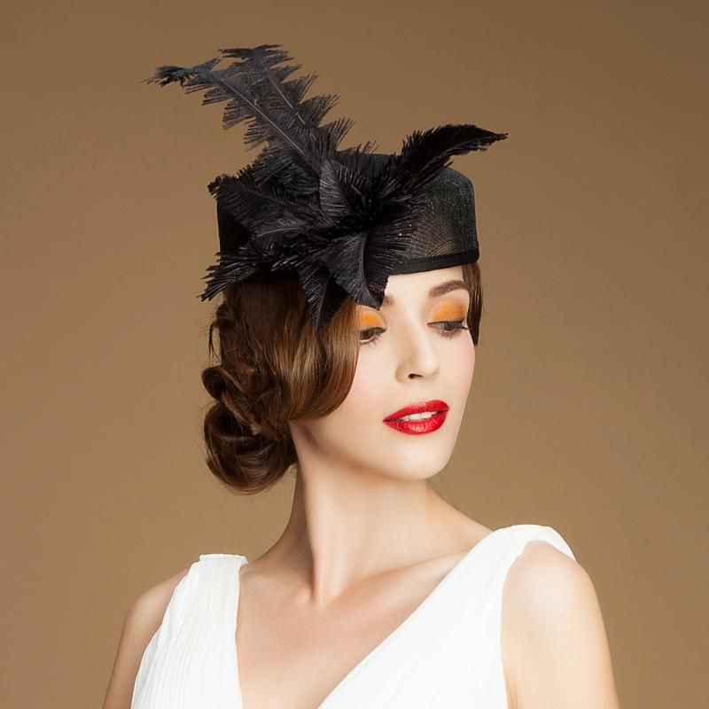 feather occasion hats 2016 new designer hats for women occasion hats