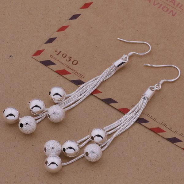 Cool Design Różne koraliki Multi Chain Hot New Fashion producent biżuterii Kolczyki 925 Sterling Silver Jewelry Cena Fabryczna Moda E324
