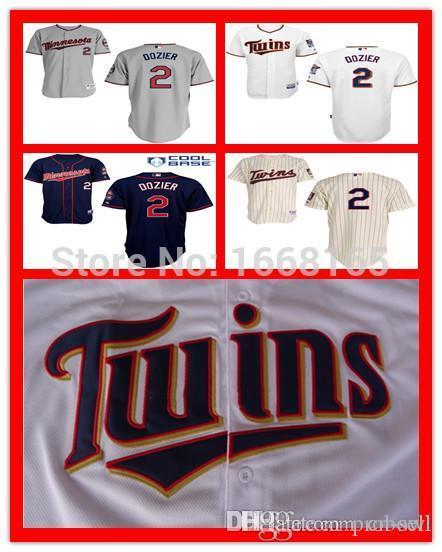 2017 2015 new hot sale minnesota twins 2 brian dozier jersey mens authentic stitched embroidery logo