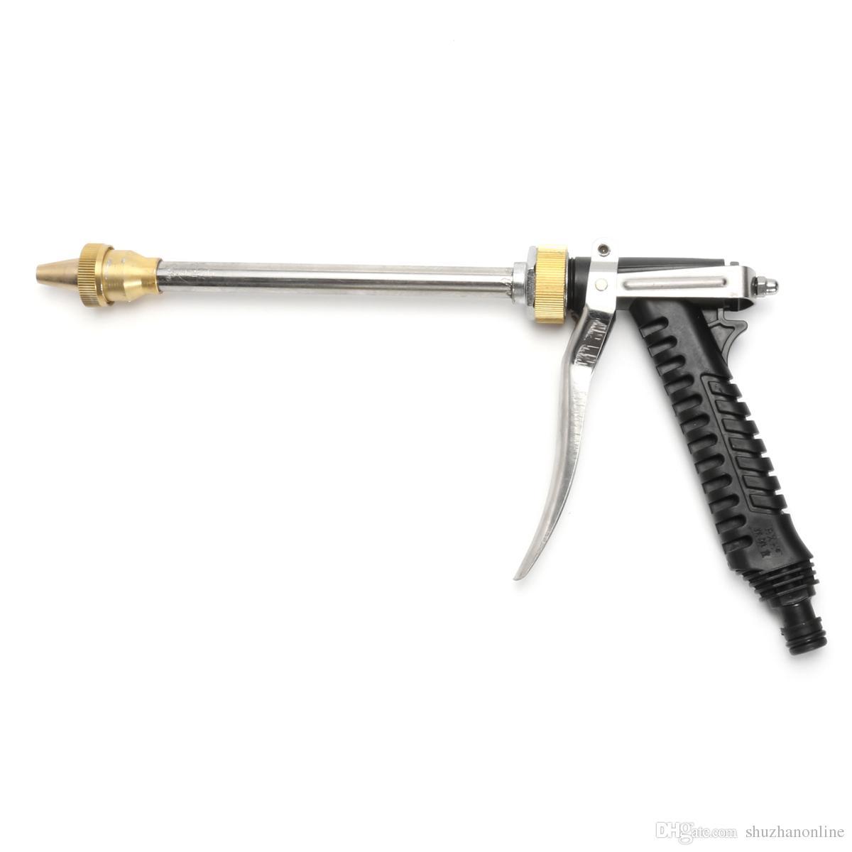 High Pressure Metal Hose Long Rod Nozzle Water Sprayer Wash Gun Lawn