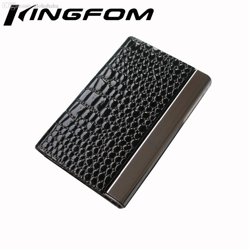 Wholesale Fashion Magnetic Lock Leather Business Card Case Id Card ...