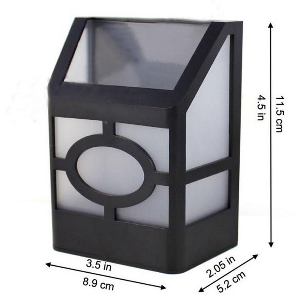 Outdoor High Power 0.2W 2 LED Warm Light Solar Lantern Light Fence Lamp Solar Wall Mounted Light
