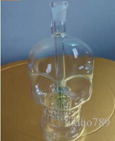 Crânio de vidro do cachimbo de água, enviando acessórios