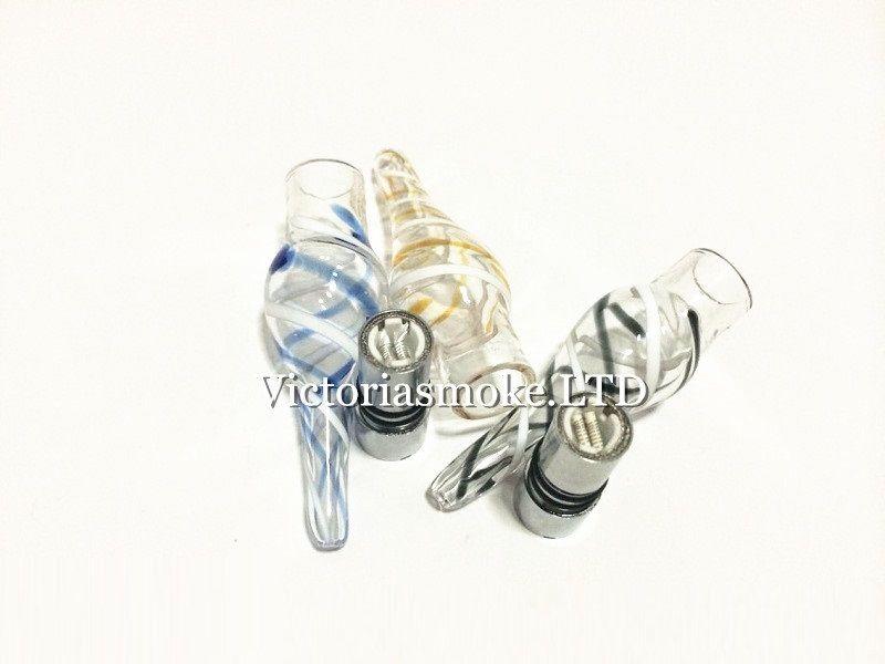 Recién llegado de vidrio cinta atomizador Glass Atomizer vidrio vaporizador para eGo t batería E cigarrillos E Cig Cartomizer Dry Herb Wax Vaporizador