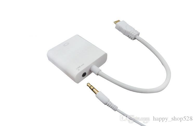 HDMI Male to VGA Female Video with Audio Output Cable 1080p HD Converter Adapter Connector for PC DVD TV Xbox DHL shipping