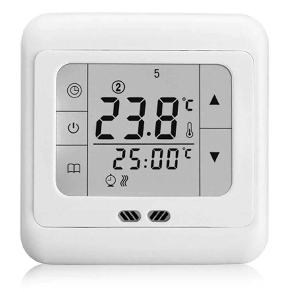 Freeshipping Touch Screen Weekly Programmable Thermostat Adopts Auto Control Heating Thermostat Blue Backlight C07.H3 16A