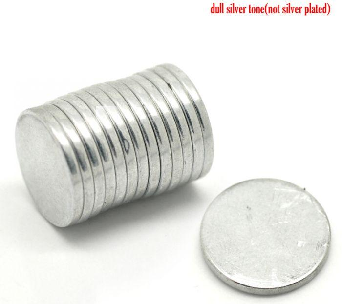 "Beijia 20PCs Silver Tone Super Strong Neodymium Disc Magnets 18mm(3/4"")"