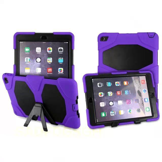 check out df4af ce9c1 Cover For iPad Air 2 Case For iPad 6 Robot Heavy Duty Soft Tablet Back  Cover Stand Case For iPad Air 2 Shockproof 50PCS Free Shipping